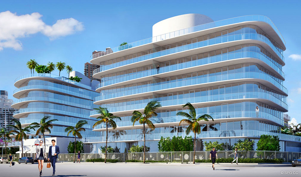 View of One Ocean, Luxury Oceanfront Condominiums Located at 91 Collins Ave, Miami Beach, FL 33139