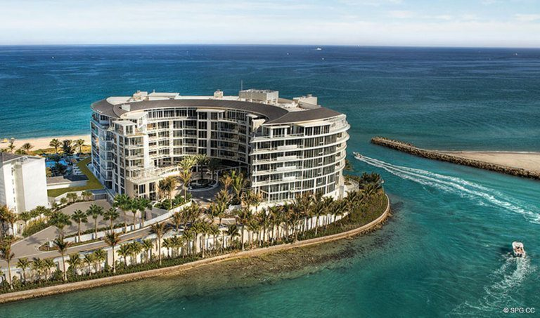 View of One Thousand Ocean, Luxury Oceanfront Condominiums Located at 1000 S Ocean Blvd, Boca Raton, FL 33432