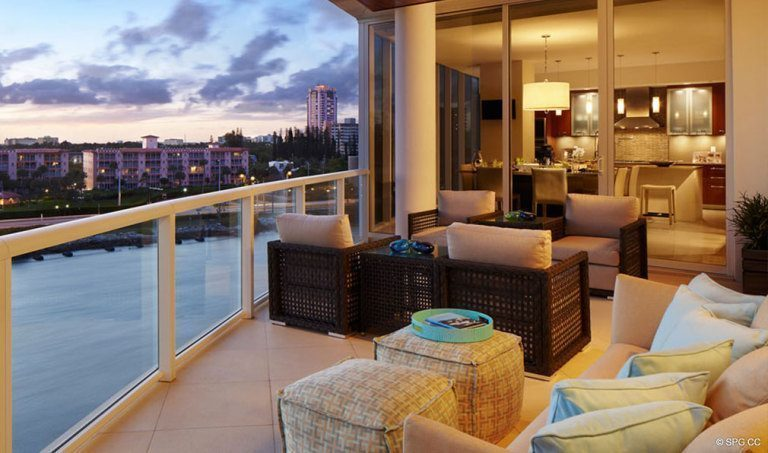One Thousand Ocean Balcony, Luxury Oceanfront Condominiums Located at 1000 S Ocean Blvd, Boca Raton, FL 33432