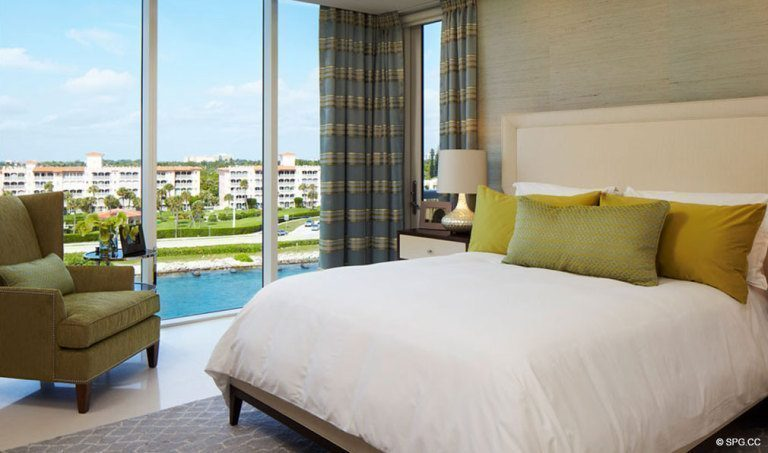 Bedroom at One Thousand Ocean, Luxury Oceanfront Condominiums Located at 1000 S Ocean Blvd, Boca Raton, FL 33432