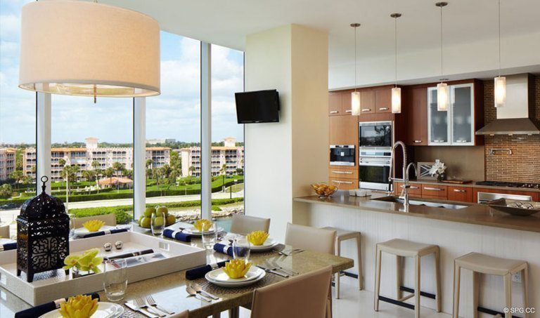 One Thousand Ocean Gourmet Kitchen, Luxury Oceanfront Condominiums Located at 1000 S Ocean Blvd, Boca Raton, FL 33432