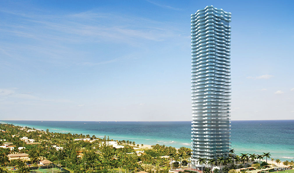 View of Regalia, Luxury Oceanfront Condominiums Located at 19505 Collins Ave, Sunny Isles Beach, FL 33160