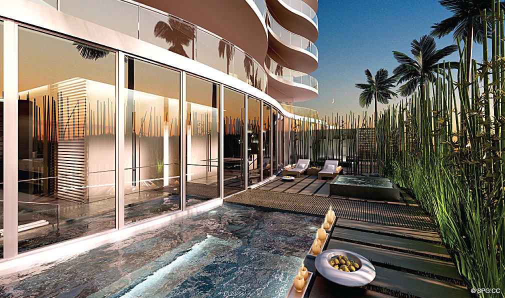 Outdoor Living at Regalia, Luxury Oceanfront Condominiums Located at 19505 Collins Ave, Sunny Isles Beach, FL 33160