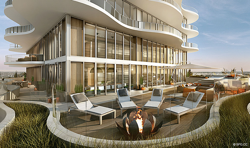 Regalia Outdoor Lounge, Luxury Oceanfront Condominiums Located at 19505 Collins Ave, Sunny Isles Beach, FL 33160