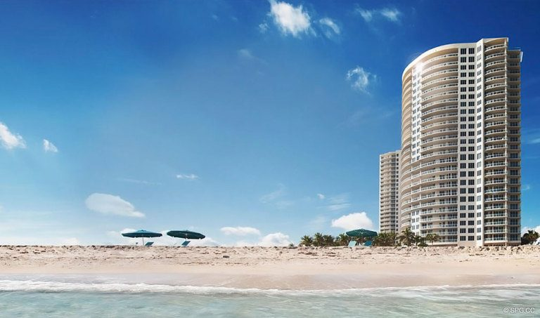 View of Ritz-Carlton Residences, Luxury Oceanfront Condominiums Located at 2700 N Ocean Dr, Palm Beach, FL 33404