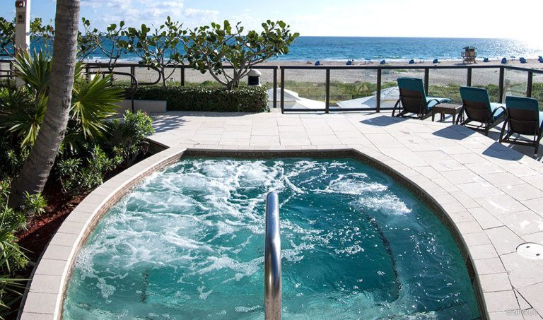 Ritz-Carlton Residences Jacuzzi, Luxury Oceanfront Condominiums Located at 2700 N Ocean Dr, Palm Beach, FL 33404