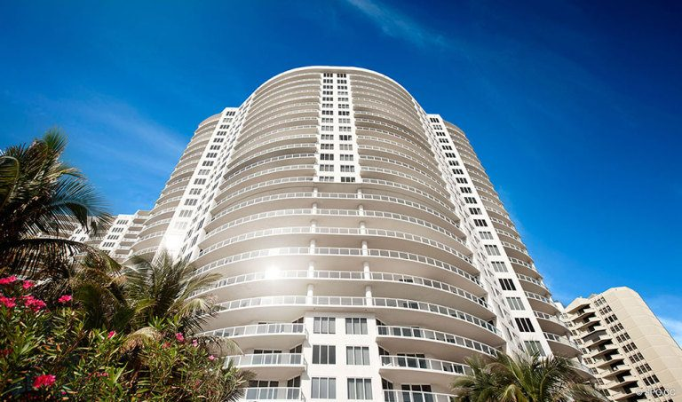 Ritz-Carlton Residences Building, Luxury Oceanfront Condominiums Located at 2700 N Ocean Dr, Palm Beach, FL 33404