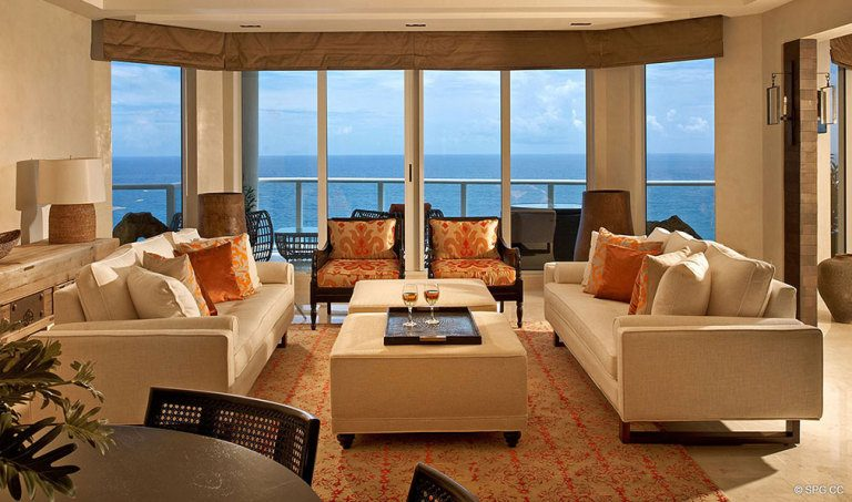 Ocean Views from Ritz-Carlton Residences, Luxury Oceanfront Condominiums Located at 2700 N Ocean Dr, Palm Beach, FL 33404