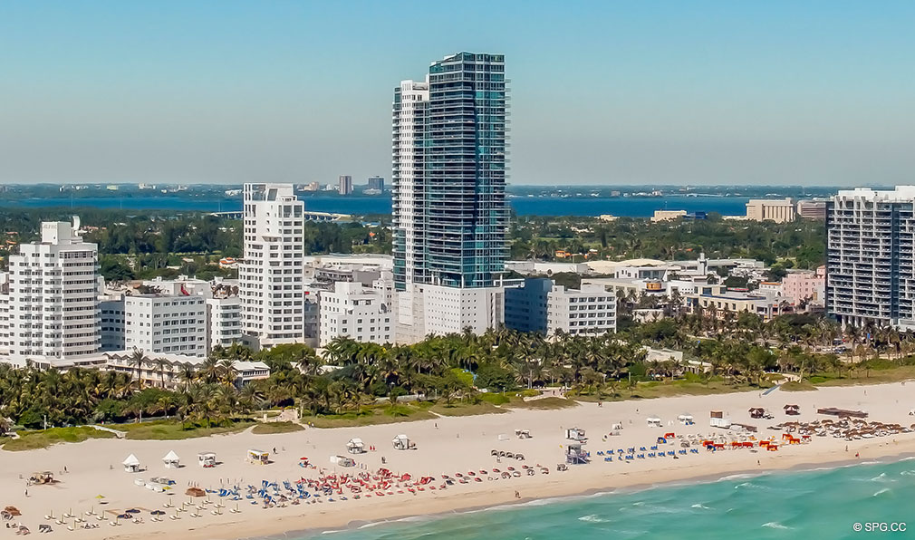 View of Setai, Luxury Oceanfront Condominiums Located at 101 20th St, Miami Beach, FL 33139