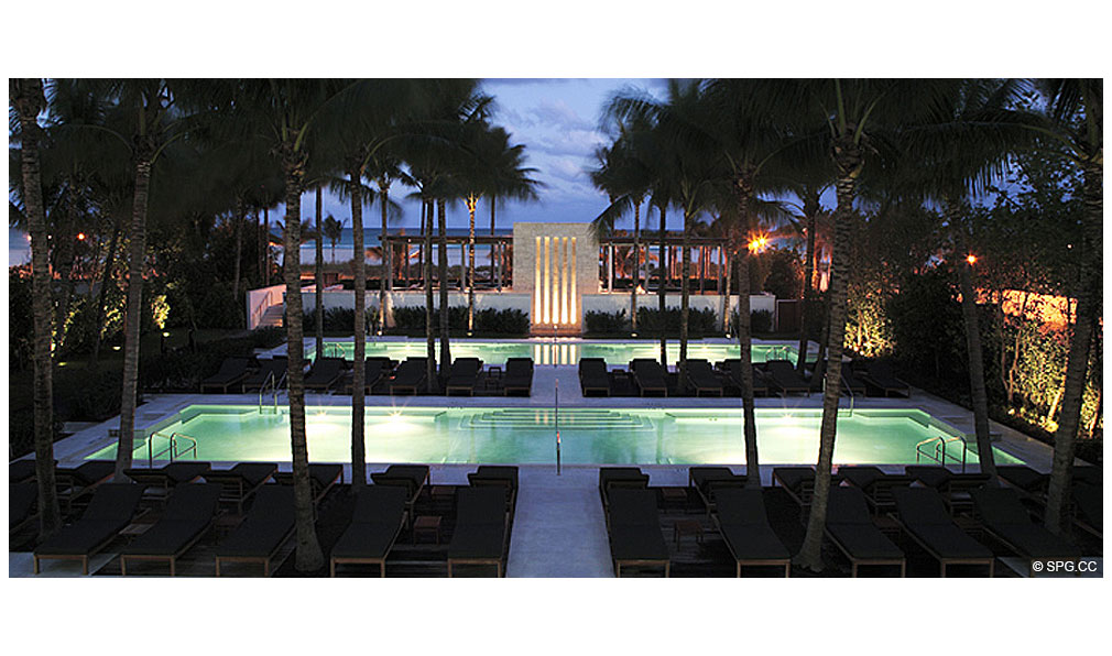 Setai Pool Deck, Luxury Oceanfront Condominiums Located at 101 20th St, Miami Beach, FL 33139