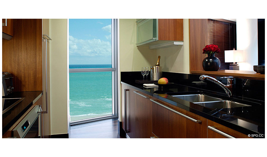 Gourmet Kitchen at Setai, Luxury Oceanfront Condominiums Located at 101 20th St, Miami Beach, FL 33139