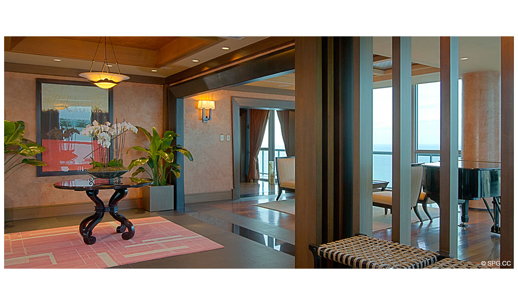 Setai Foyer, Luxury Oceanfront Condominiums Located at 101 20th St, Miami Beach, FL 33139