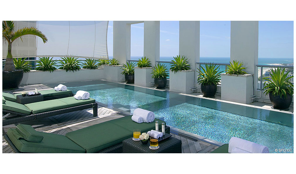 Private Pool at Setai, Luxury Oceanfront Condominiums Located at 101 20th St, Miami Beach, FL 33139