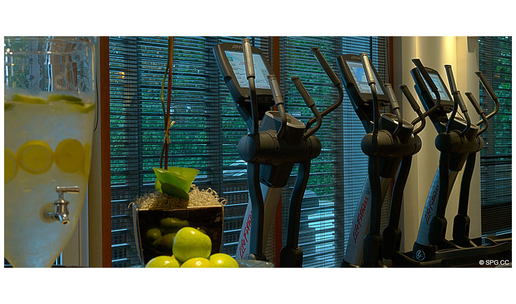 Setai Gym, Luxury Oceanfront Condominiums Located at 101 20th St, Miami Beach, FL 33139