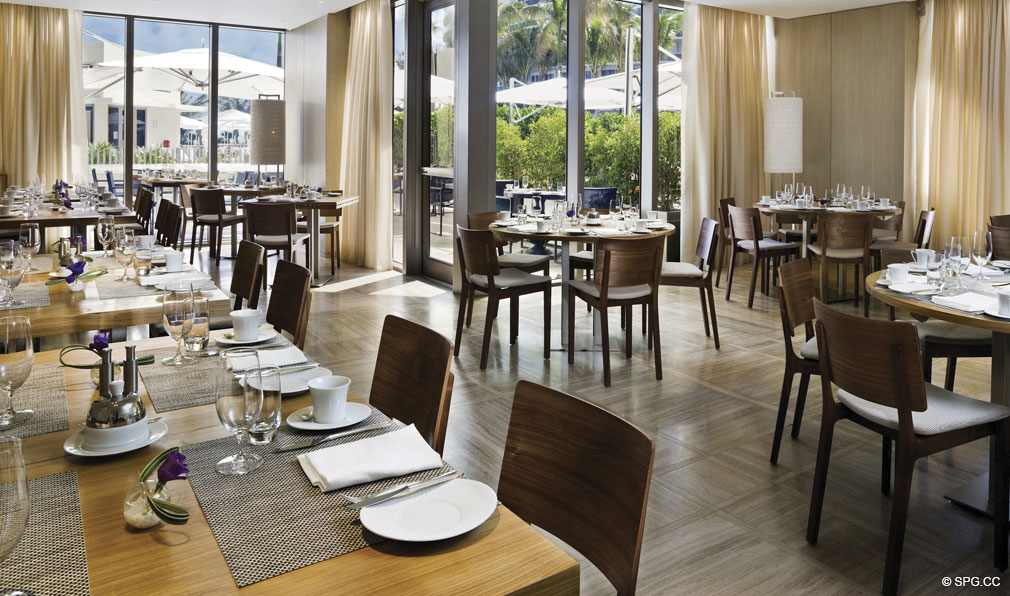 Dining at St. Regis Bal Harbour, Luxury Oceanfront Condominium, 9701 Collins Ave, Bal Harbour, FL 33154