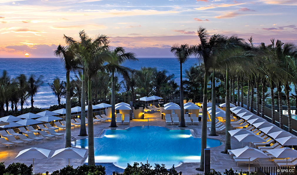 St. Regis Bal Harbour Pool, Luxury Oceanfront Condominium, 9701 Collins Ave, Bal Harbour, FL 33154