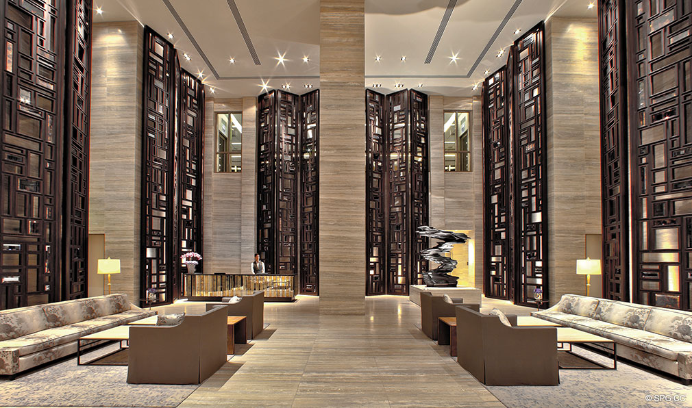 St. Regis Bal Harbour Lobby, Luxury Oceanfront Condominium, 9701 Collins Ave, Bal Harbour, FL 33154