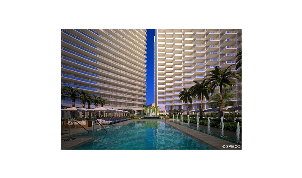 St. Regis Bal Harbour Pool Deck, Luxury Oceanfront Condominium, 9701 Collins Ave, Bal Harbour, FL 33154