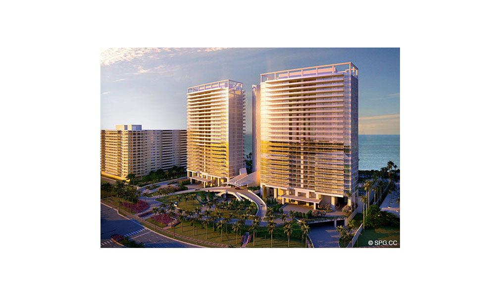 View of St. Regis Bal Harbour, Luxury Oceanfront Condominium, 9701 Collins Ave, Bal Harbour, FL 33154