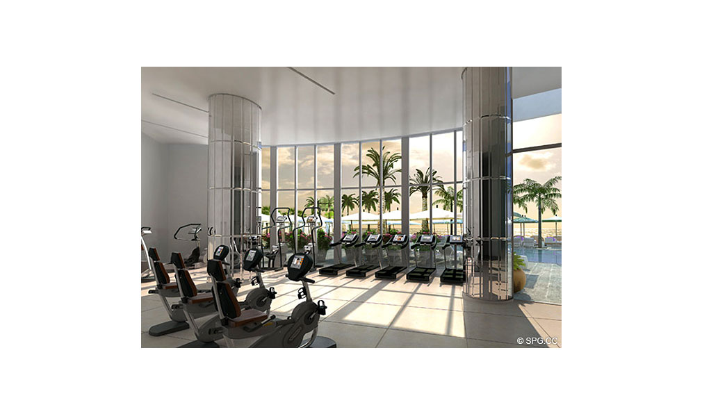 Fitness Center at St. Regis Bal Harbour, Luxury Oceanfront Condominium, 9701 Collins Ave, Bal Harbour, FL 33154