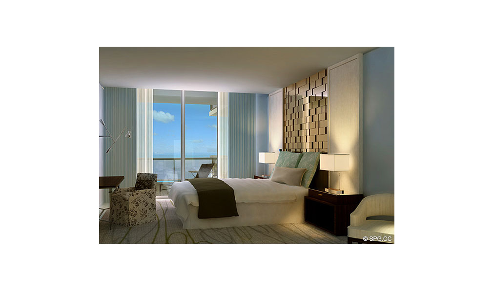St. Regis Bal Harbour Bedroom, Luxury Oceanfront Condominium, 9701 Collins Ave, Bal Harbour, FL 33154