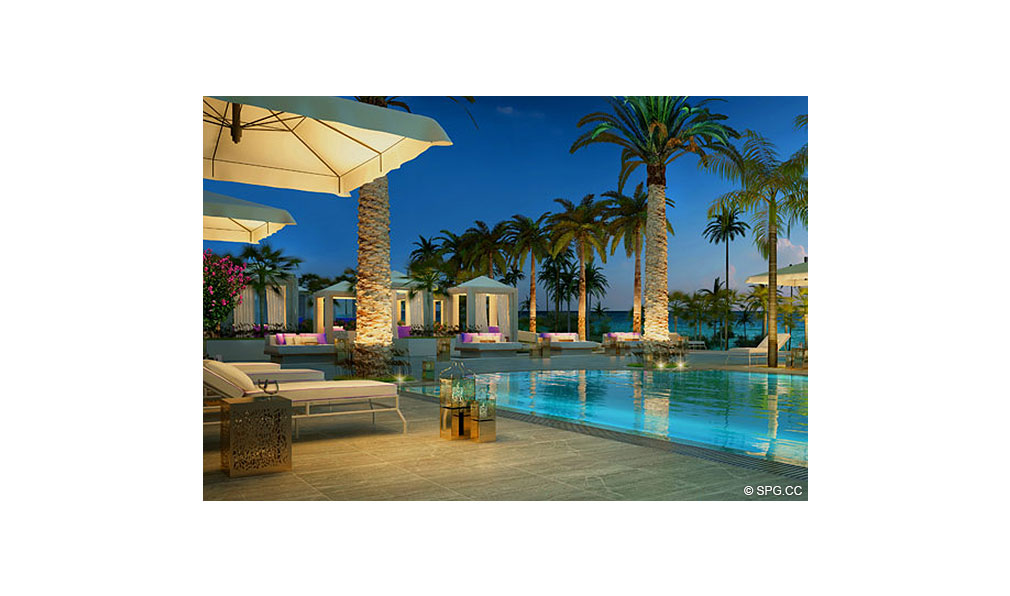 St. Regis Bal Harbour Poolside Cabanas, Luxury Oceanfront Condominium, 9701 Collins Ave, Bal Harbour, FL 33154