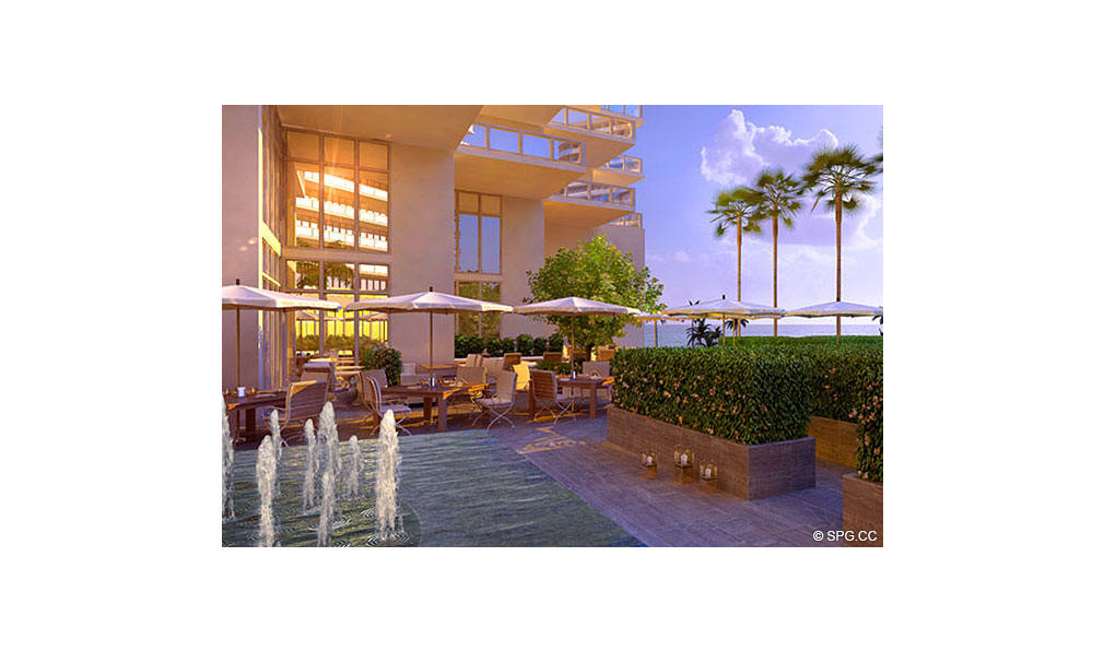 Outdoor Living at St. Regis Bal Harbour, Luxury Oceanfront Condominium, 9701 Collins Ave, Bal Harbour, FL 33154