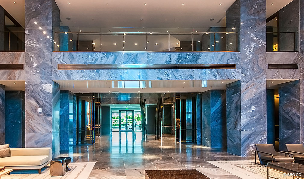 Front Lobby Entrance at Trump Hollywood, Oceanfront Condominiums Located at 2711 S Ocean Dr, Hollywood Beach, FL 33019