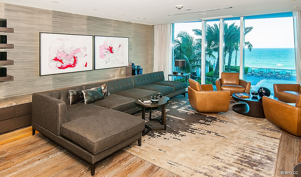 Trump Hollywood Cigar Lounge, Luxury Oceanfront Condominiums Located at 2711 S Ocean Dr, Hollywood Beach, FL 33019