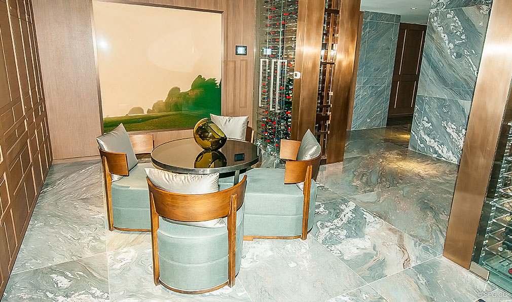 Wine Room at Trump Hollywood, Luxury Oceanfront Condominiums Located at 2711 S Ocean Dr, Hollywood Beach, FL 33019
