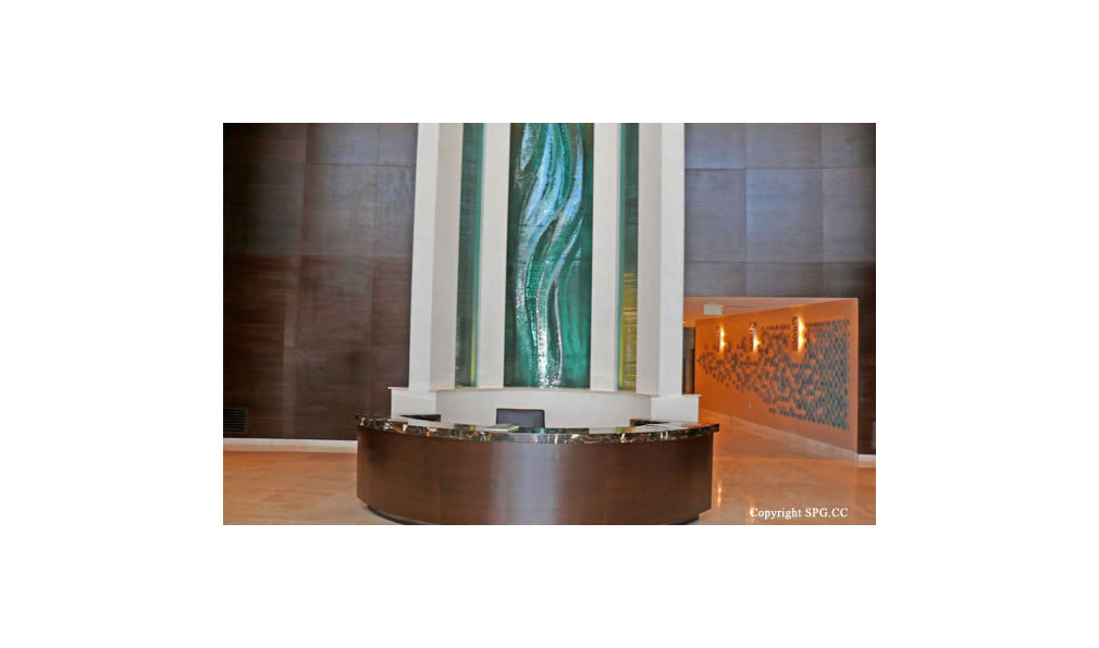 Trump Towers Front Desk, Oceanfront Condominiums Located at 15811-16001 Collins Ave, Sunny Isles Beach, FL 33160