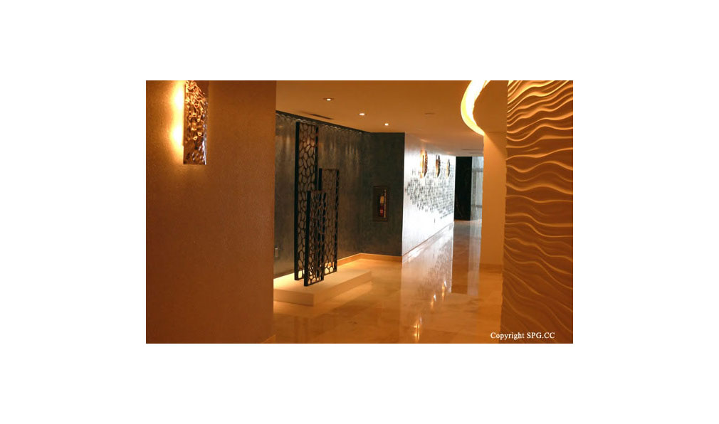 Hallway at Trump Towers, Oceanfront Condominiums Located at 15811-16001 Collins Ave, Sunny Isles Beach, FL 33160