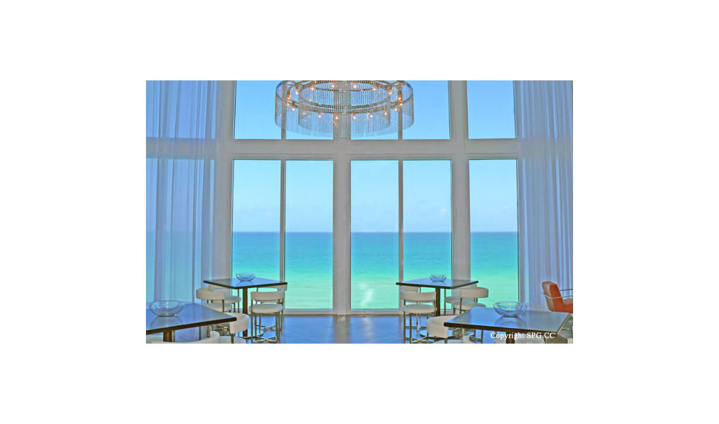 Ocean Views from Trump Towers Lounge, Oceanfront Condominiums Located at 15811-16001 Collins Ave, Sunny Isles Beach, FL 33160
