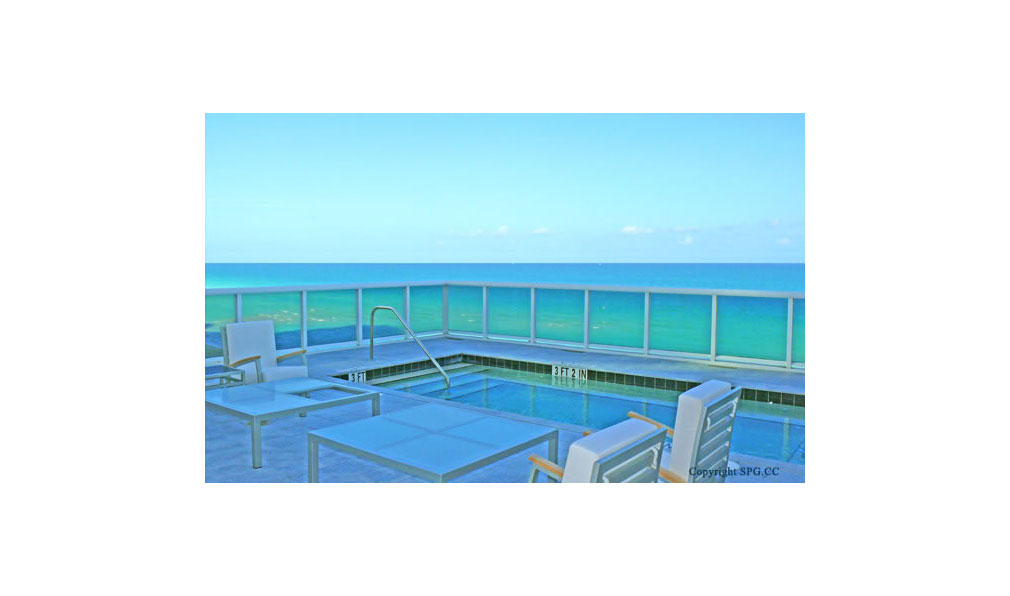 Trump Towers Pool Deck, Oceanfront Condominiums Located at 15811-16001 Collins Ave, Sunny Isles Beach, FL 33160
