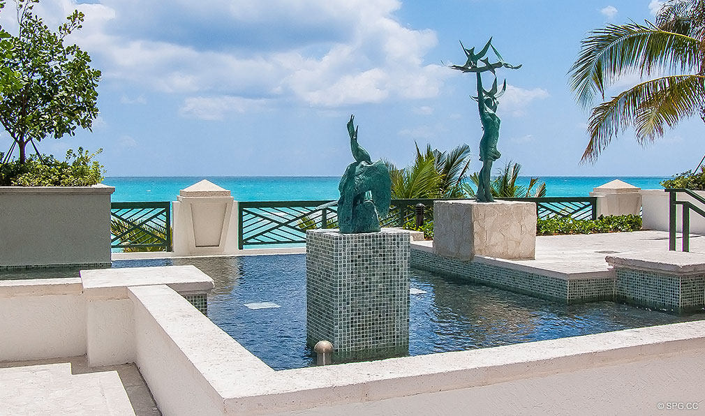 Turnberry Ocean Colony Fountain, Luxury Condominiums Located at 16047-16051 Collins Ave, Sunny Isles Beach, FL 33160