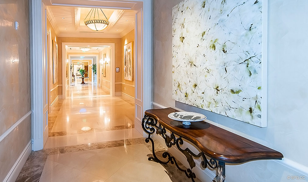 Turnberry Ocean Colony Hallway, Luxury Condominiums Located at 16047-16051 Collins Ave, Sunny Isles Beach, FL 33160