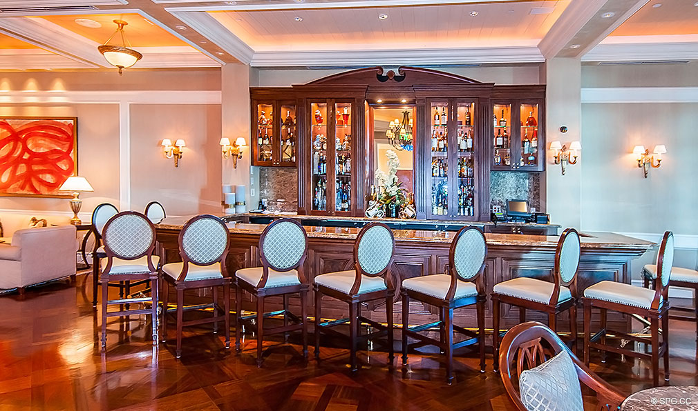 Turnberry Ocean Colony Lounge Bar, Luxury Condominiums Located at 16047-16051 Collins Ave, Sunny Isles Beach, FL 33160